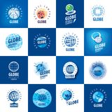 Earth logo template. Globe sign Royalty Free Stock Photography