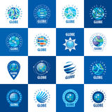 Earth  logo template. Globe sign Stock Images