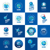 Earth  logo template. Globe sign Stock Image