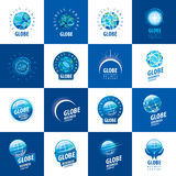 Earth  logo template. Globe sign Royalty Free Stock Images