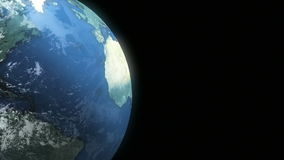 Earth Loop 03. This animation of planet Earth loops seamlessly. Copy space is screen right stock footage