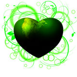 Earth love. One hearth one earth and we must love it Royalty Free Stock Images