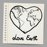 Earth Love doodle vector Royalty Free Stock Photography
