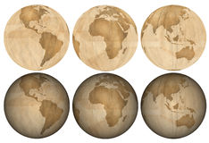 Earth made of Brown Paper stock image