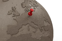 Earth made of clay closeup Royalty Free Stock Image