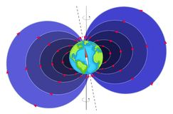 Earth Magnetic Field royalty free illustration