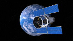 Earth and man-made satellite Royalty Free Stock Images