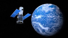 Earth and man-made satellite Stock Photos