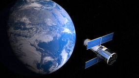 Earth and man-made satellite Stock Images