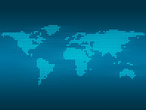 Earth map. Blue digital background Royalty Free Stock Image