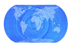 Earth map. Blue underwater earth map isolated Royalty Free Stock Images