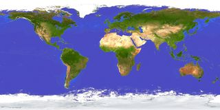 Earth Map Aerial royalty free illustration