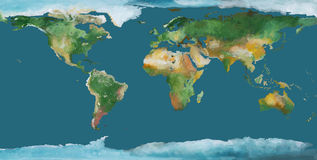 Earth map as brush illustration Royalty Free Stock Image
