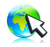 Earth map globe Royalty Free Stock Photos