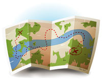 Earth Map Icon Stock Photography