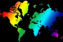 Earth Map illustration. Colorful rainbow like Earth Map illustration Stock Image