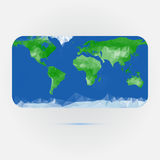 Earth map made with triangles Royalty Free Stock Photo