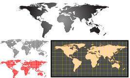 Earth map vector set Stock Image
