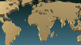 Earth Map Zoom and Rotate stock video footage
