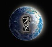 Earth mechanism vector illustration