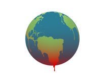 The earth is melting, Illustration Stock Image