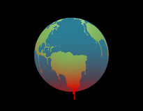 The earth is melting, Illustration Royalty Free Stock Images