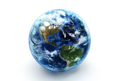 Earth model with atmospheric effects Stock Images