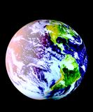 Earth Model. Planet Earth On Black Background Royalty Free Stock Images
