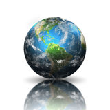 Earth. Model of planet Earth on white background vector illustration