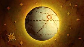 Earth model, retro. Earth globe animation. Retro version royalty free illustration
