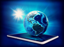 Earth model on tablet Stock Images
