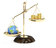 Earth and money Stock Image