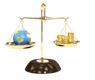 Earth and money Royalty Free Stock Photos