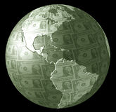 Earth Money. Planet Earth made from US dollar bills royalty free illustration