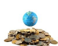 Earth on the money Royalty Free Stock Photo