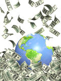 Earth and money royalty free illustration