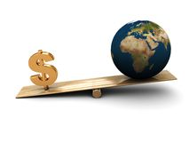 Earth and money Stock Photos