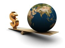 Earth and money Royalty Free Stock Image