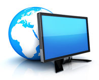 Earth and monitor Royalty Free Stock Image