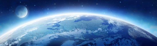 Earth and moon Stock Photos