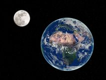 Earth and Moon Stock Images