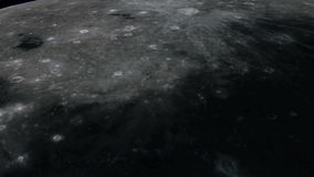 Earth and Moon stock footage
