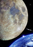 Earth and moon. Royalty Free Stock Photos