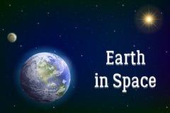 Earth, moon and sun Royalty Free Stock Photo