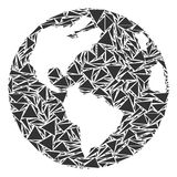 Earth Collage of Triangles vector illustration