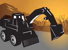Earth mover. In work sight Royalty Free Stock Images