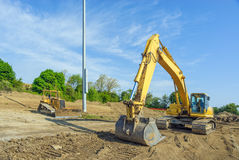 Earth-mover and Bulldozer Stock Image