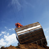 Earth mover digging stock photography