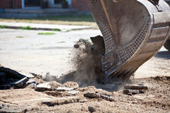 Earth mover digging Stock Photos