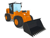 Earth mover. Drawing of earth mover on blank background Stock Photos